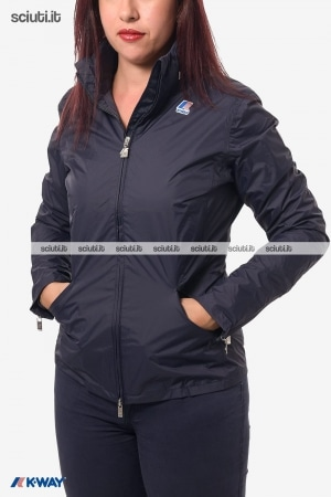 Giubbotto Kway donna Sally plus blu scuro