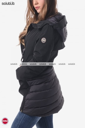 Parka donna nero con zip laterali Research
