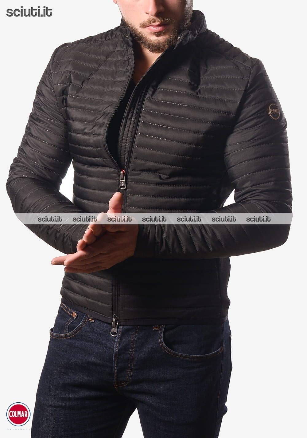buy popular fa03c a70f8 Piumino Colmar uomo senza cappuccio leggero nero imbottitura ...