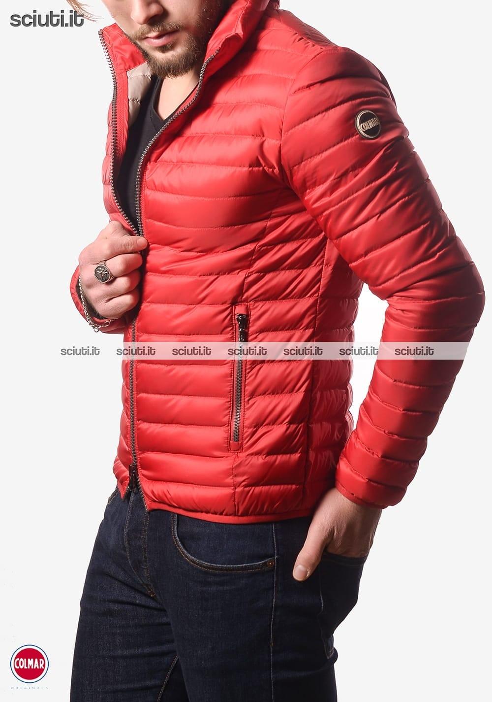 cheap for discount db55d 8a4f3 Piumino Colmar uomo leggero senza cappuccio rosso | Sciuti.it
