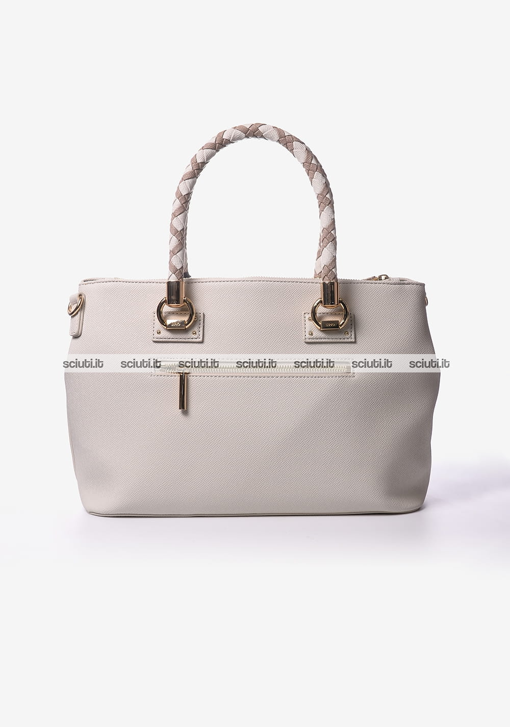 Borsa shopping Liu Jo donna 2 zip Manhattan beige  07649ce9007