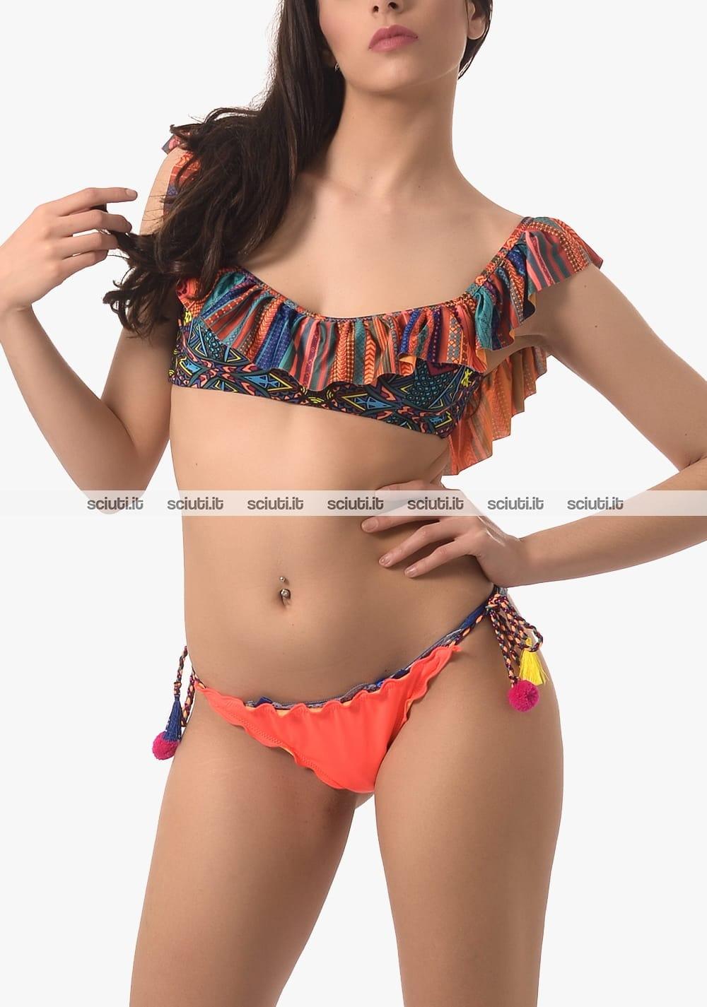 nuovo prodotto c8ef4 f3bef Costume da bagno effek donna bikini fascia con volant ...