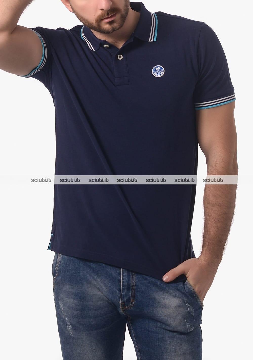 blu North uomo con Polo Sails Sciuti logo it ntRdx