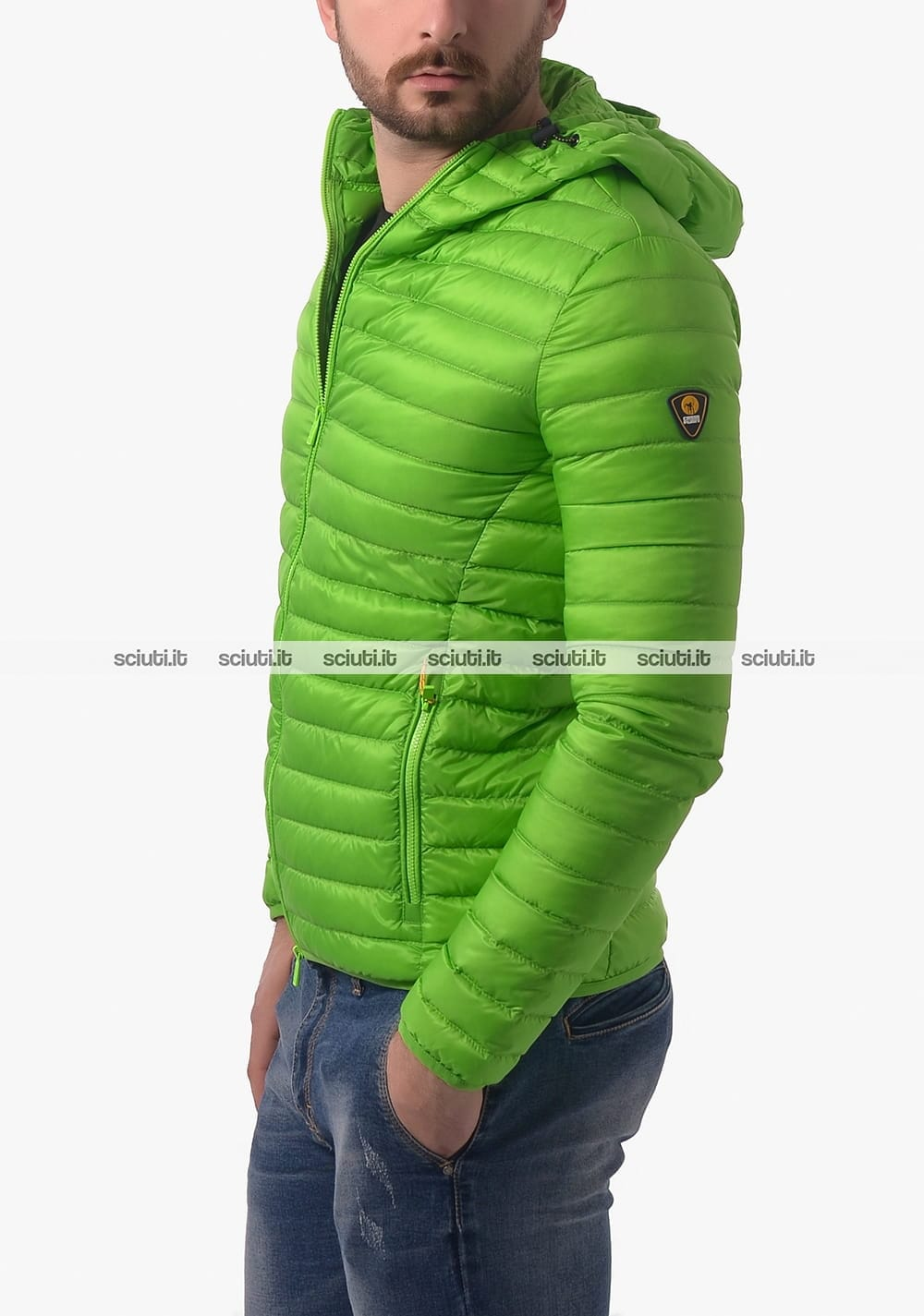 e532ff1e0c28a Piumino Ciesse uomo Larry con cappuccio verde