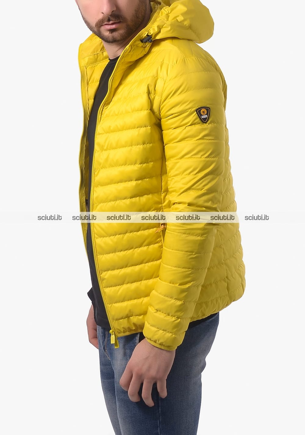 info for 89f61 d37b1 Piumino Ciesse uomo Larry con cappuccio giallo | Sciuti.it