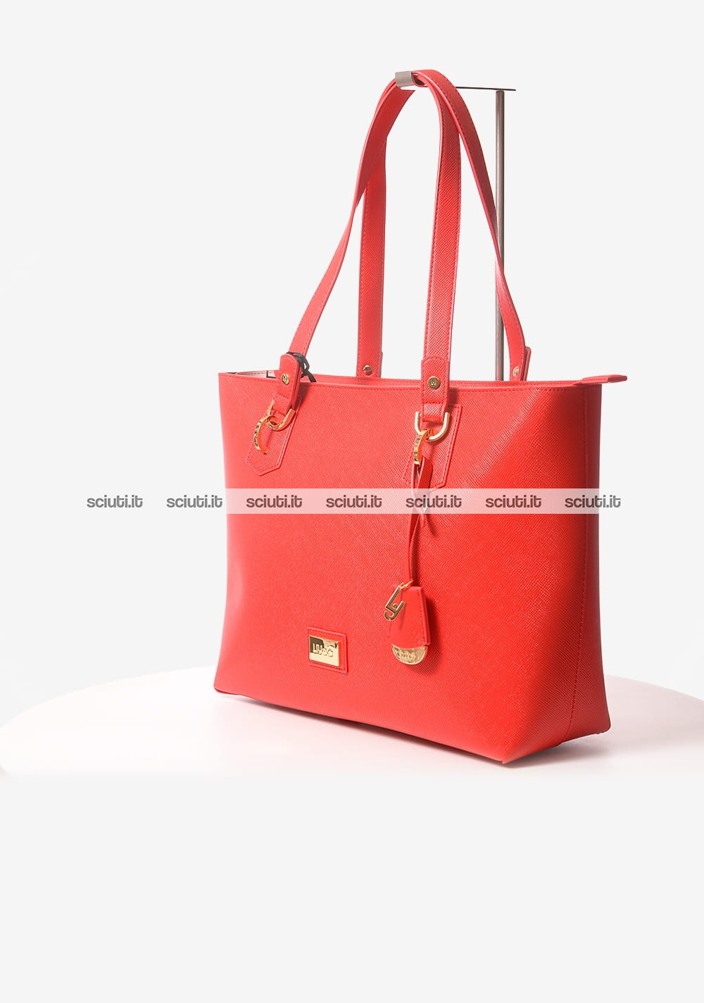 GUESS BORSA SHOPPING A MANO ROSSO SCURO