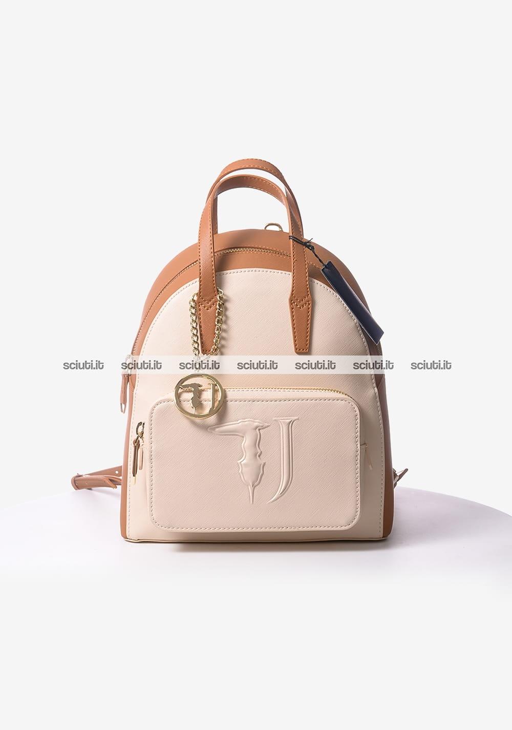 comprare popolare 78902 81434 Zaino Trussardi Jeans donna Ischia beige | Sciuti.it