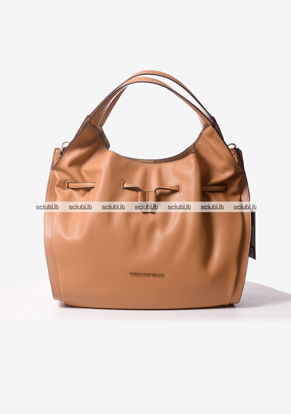 a03c42ee00 Borsa secchiello Trussardi jeans donna Bellflower marrone | Sciuti.it