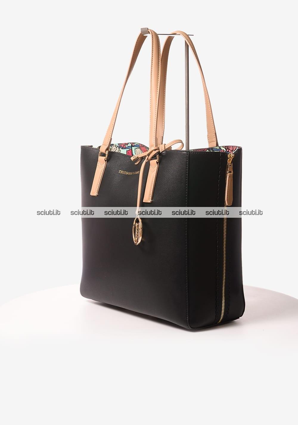 Lumpur Reversibile Nero Jeans Trussardi Borsa Shopping Kuala Donna SZBn6xAHa