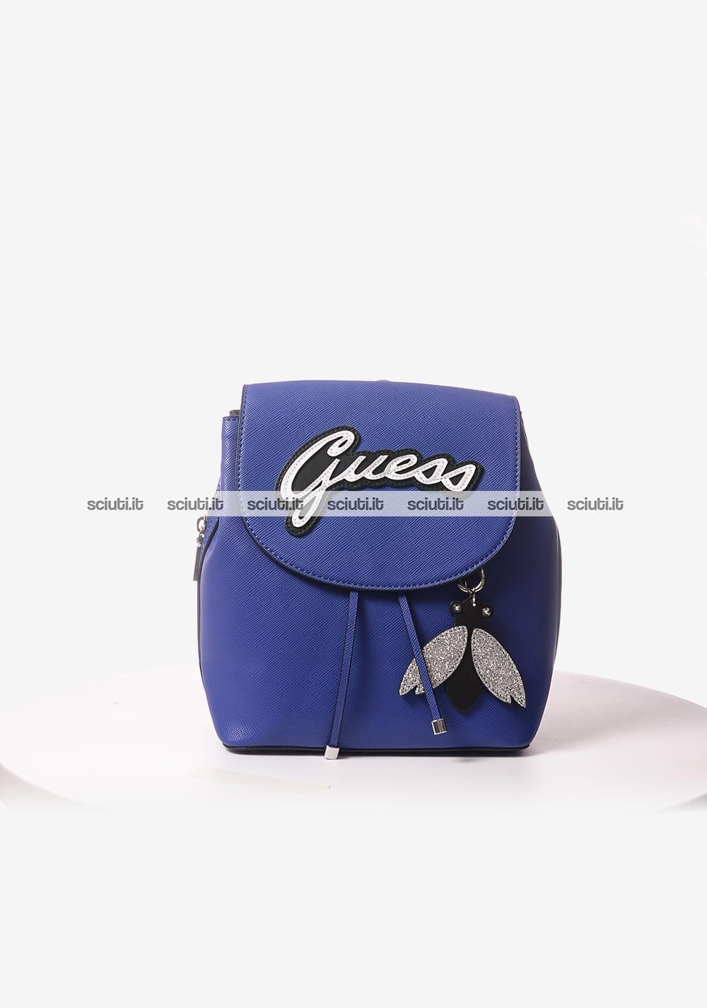 Zaino Guess donna Varsity Pop logo blu   Sciuti.it