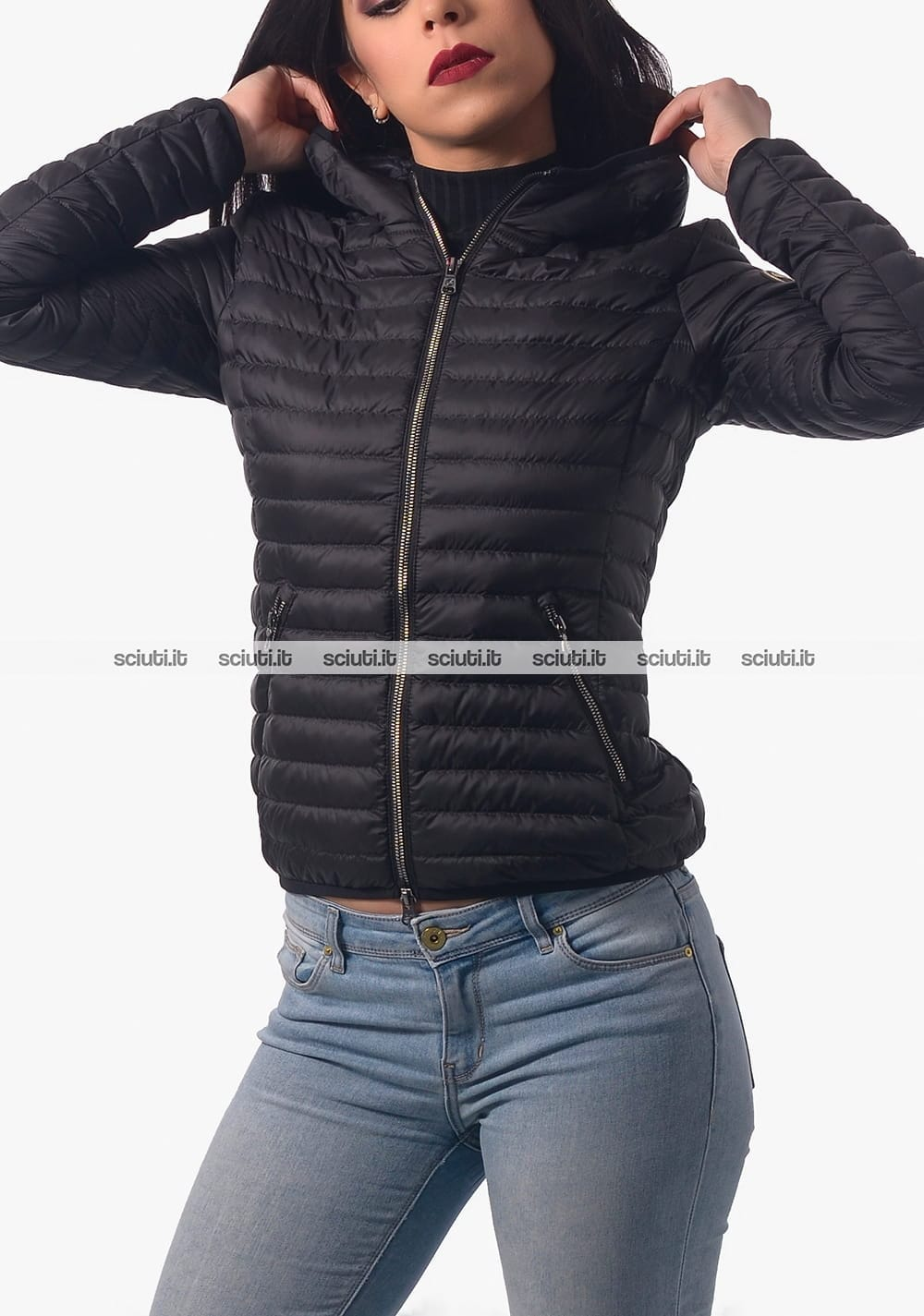 detailing 40e44 edc8a Piumino Colmar donna nero leggero con cappuccio | Sciuti.it
