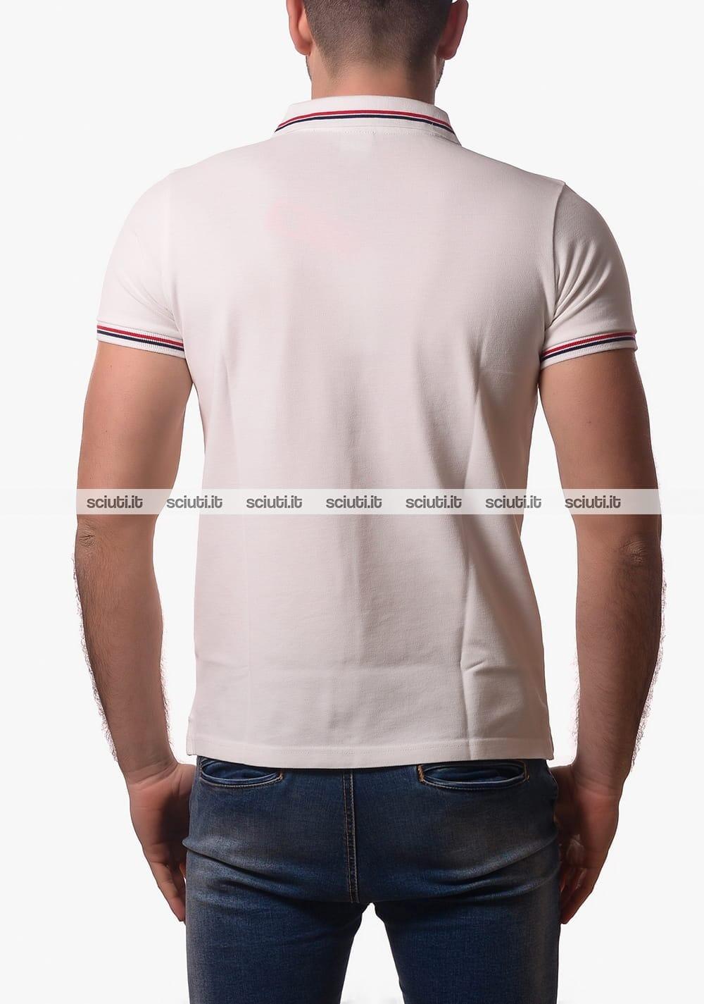 Polo Fila uomo con bordi in contrasto bianca | Sciuti.it