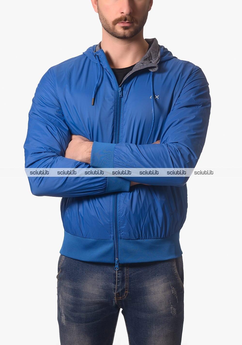 Giubbotto lana uomo cappuccio