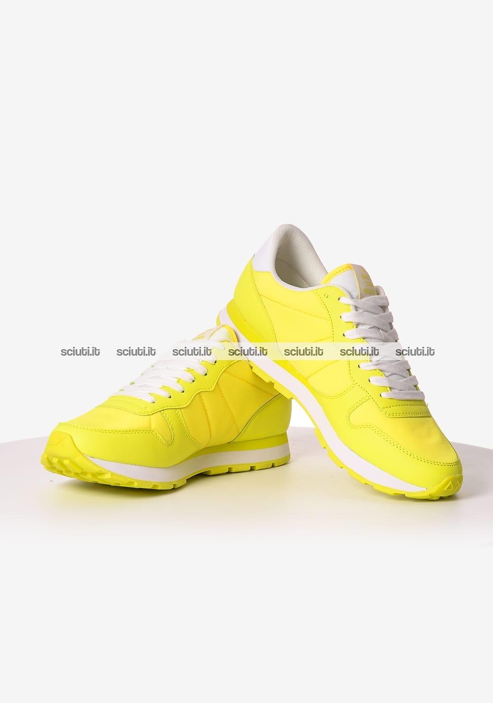 Scarpe Sun68 uomo running bicolor nylon giallo fluo | Sciuti.it