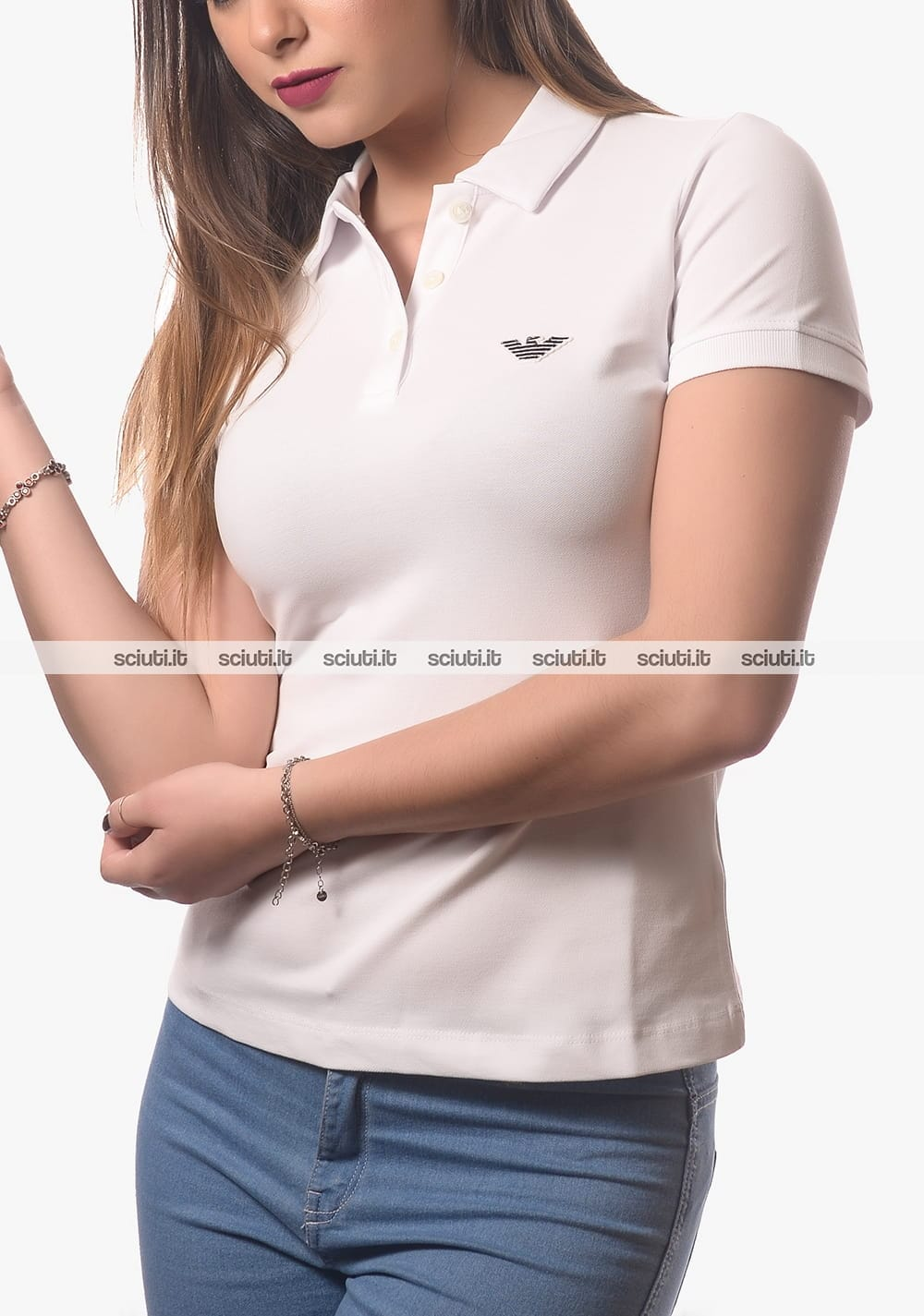 armani jeans borse prezzo, Armani Jeans Polo Bianco Ottico