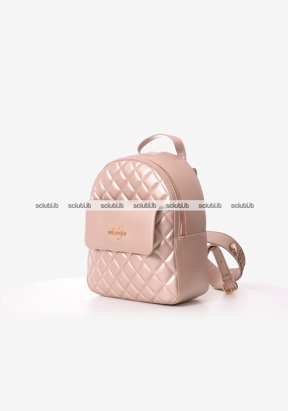 nuovo stile c25d6 8e736 Zaino Love Moschino donna rosa laminato | Sciuti.it