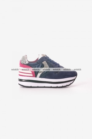 Scarpe Voile Blanche donna May Power blu fuchsia