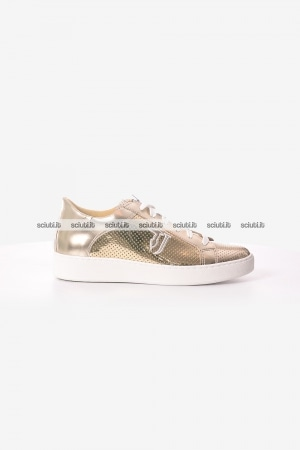Scarpe Trussardi donna sneakers color oro