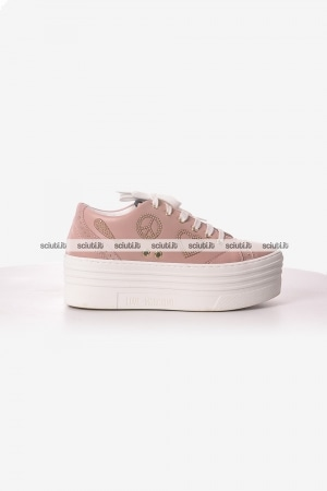 Scarpe Love Moschino donna sneakers platform rosa