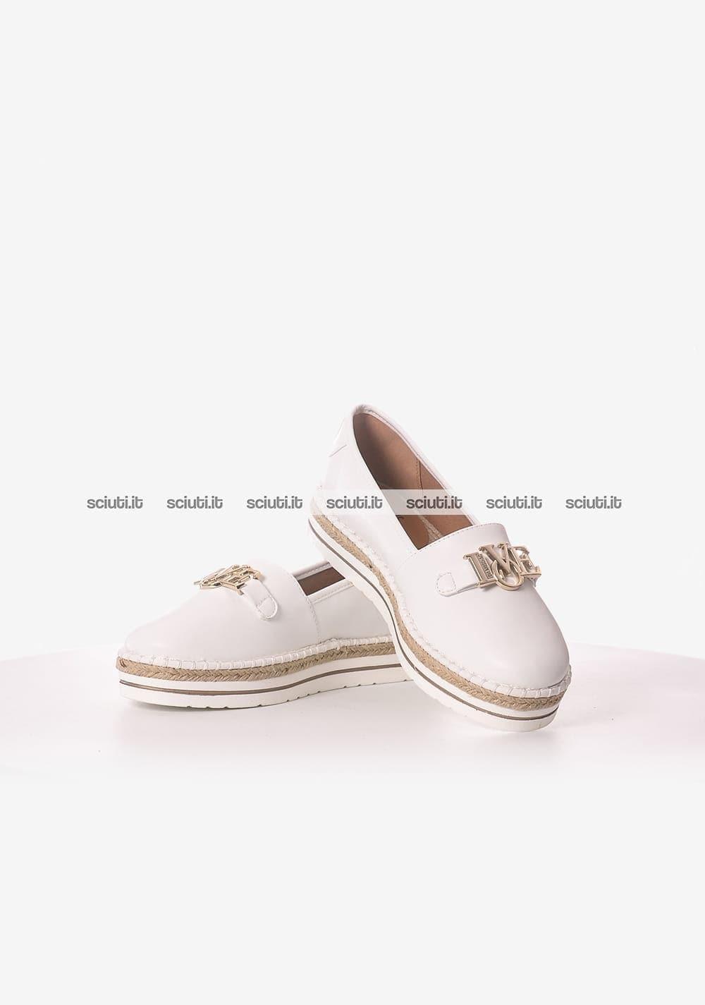outlet store 183ec fc328 Scarpe Love Moschino donna mocassino bianco | Sciuti.it
