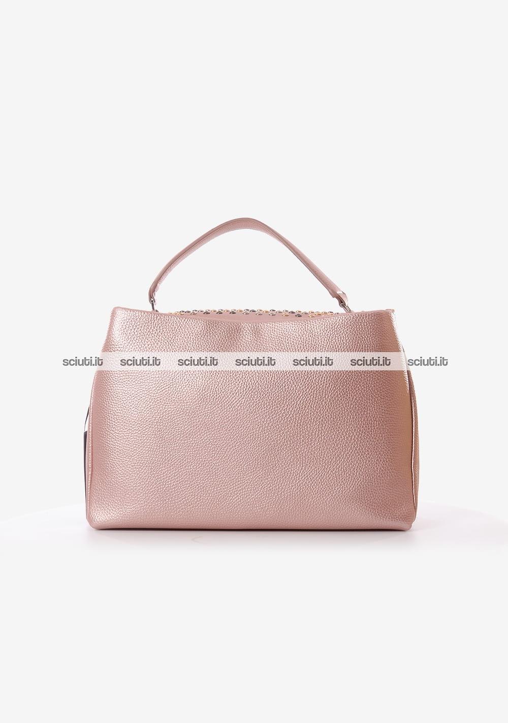 Borsa cartella Gio Cellini donna All Studs rosa  e3939d8fa42