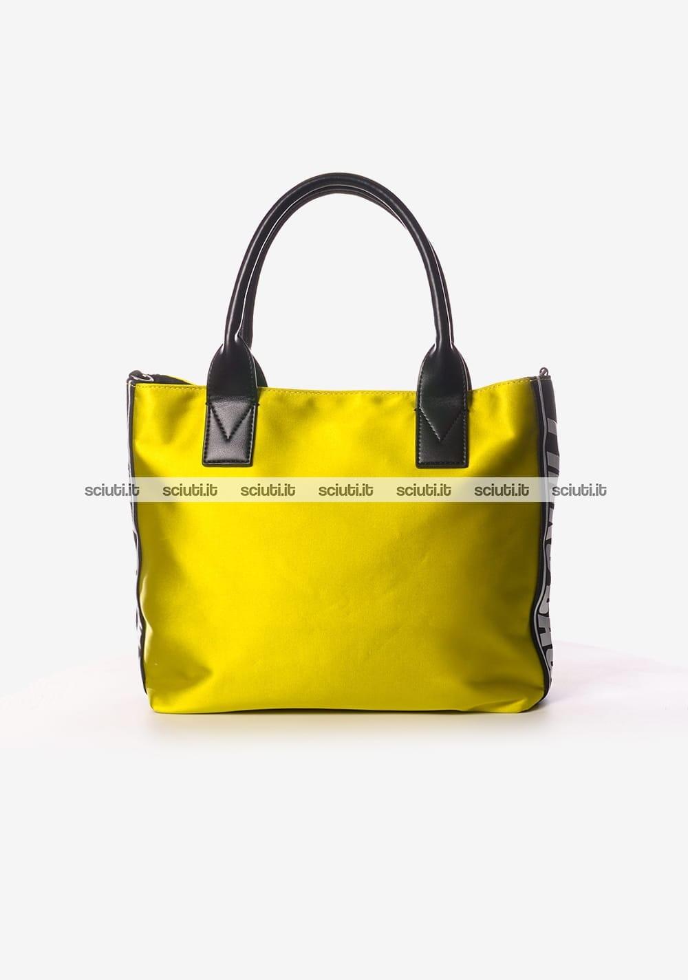 Borsa shopping Pinko donna Canesca gioiello giallo  1b75e165ba6