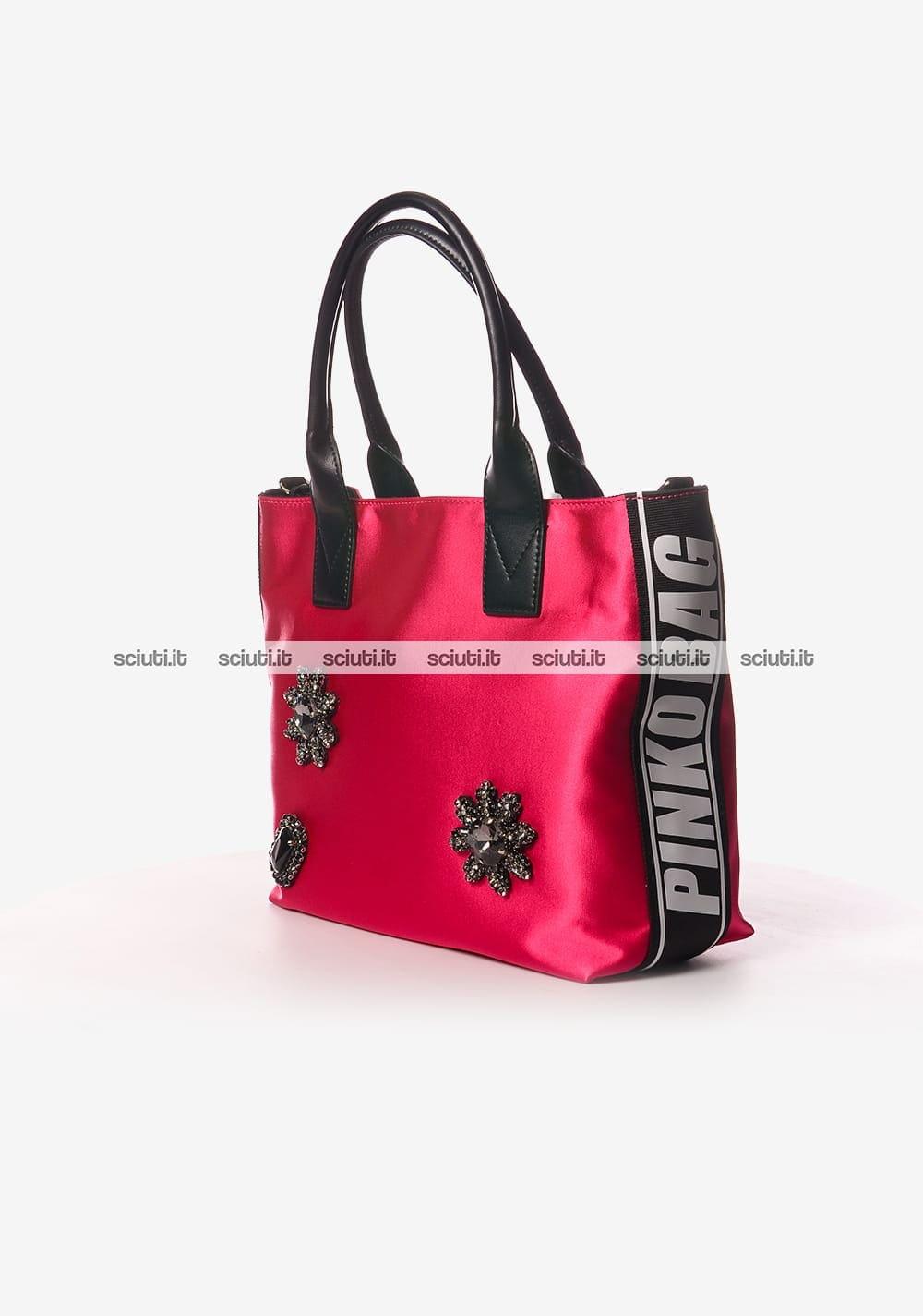 Borsa shopping Pinko donna Canesca gioiello fuchsia  bb1086da6cb