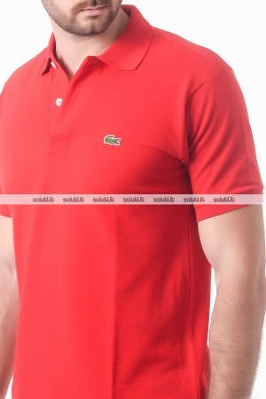 Polo Lacoste uomo petit pique rosso rouge