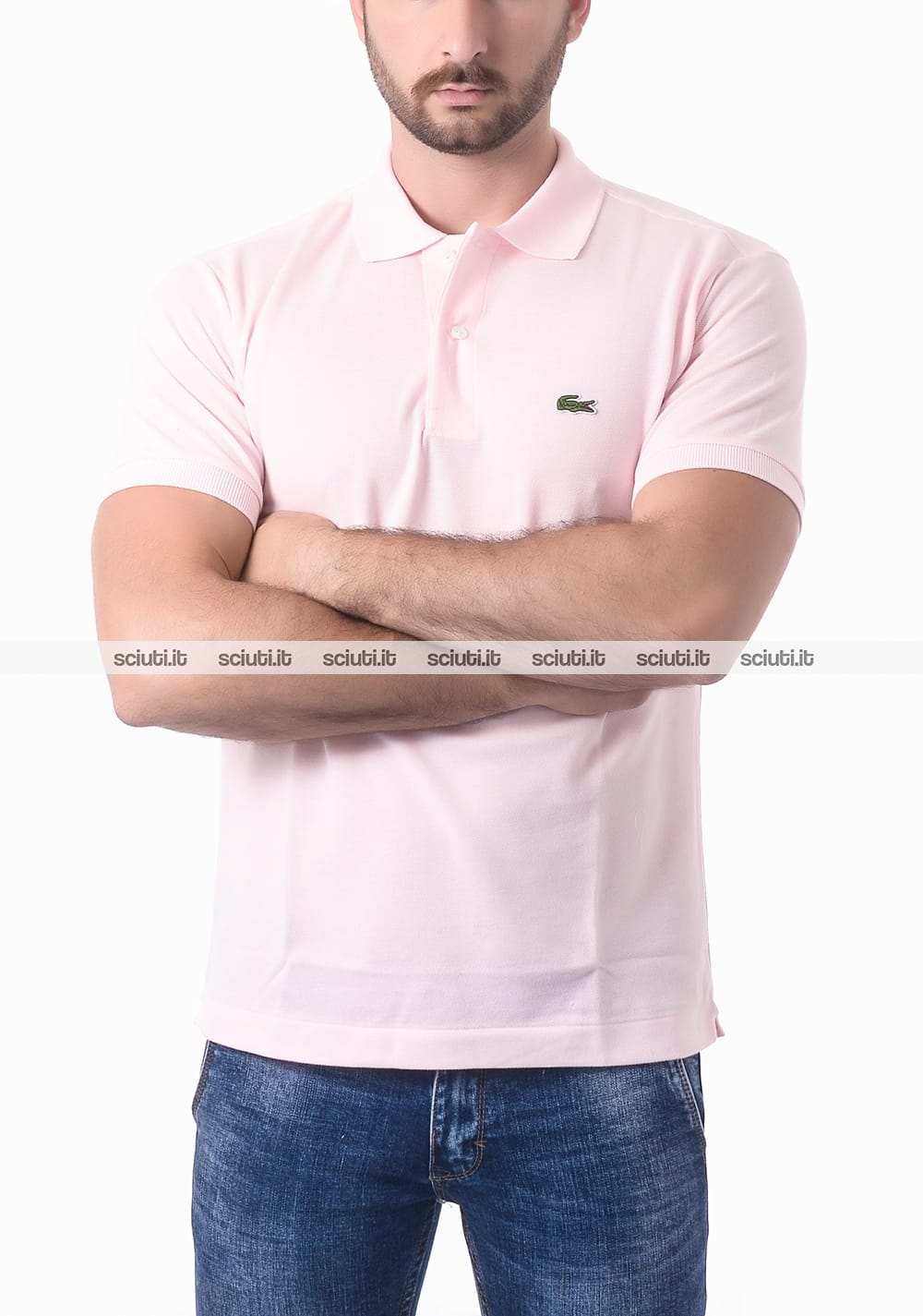 cheap for discount 55442 b85b1 Polo Lacoste uomo petit pique rosa flamant classic fit