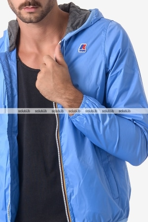 Giacca Kway uomo Jacques Jersey azzurro