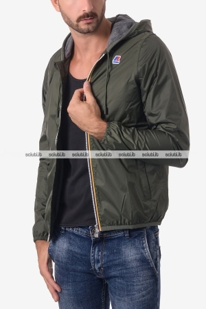 Giacca Kway uomo Jacques Jersey verde militare