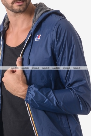 Giacca Kway uomo Jacques Jersey blu scuro