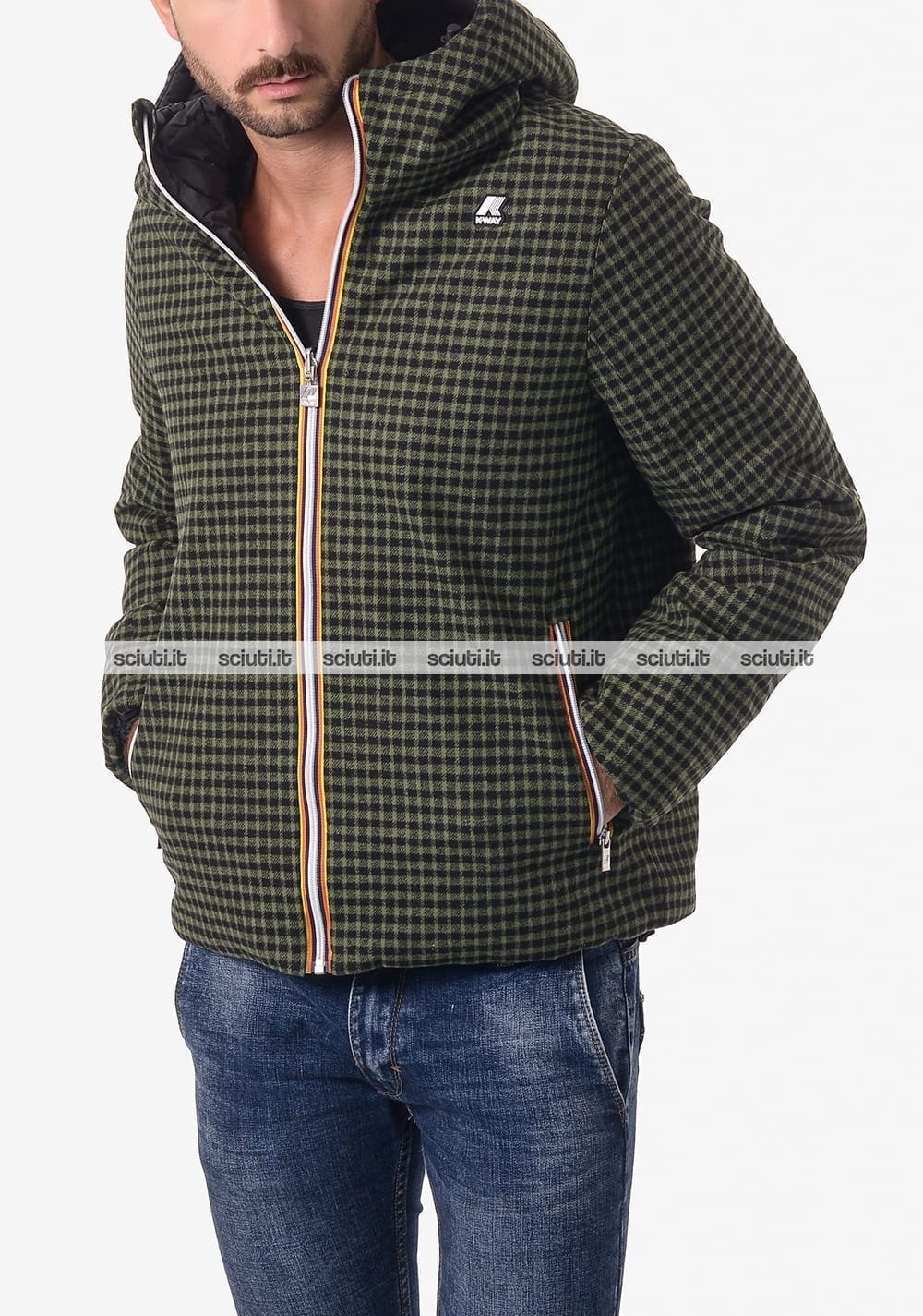 Giubbotto Kway uomo reversibile Jacques Thermo Wool Double