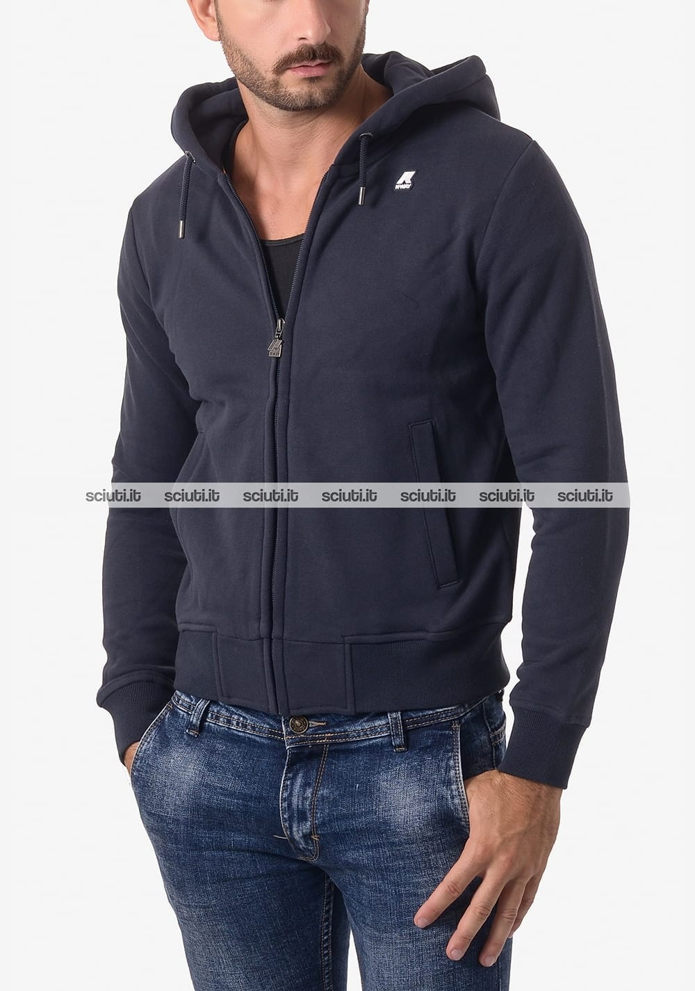 Felpa Kway uomo Rainer Fleece blu scuro