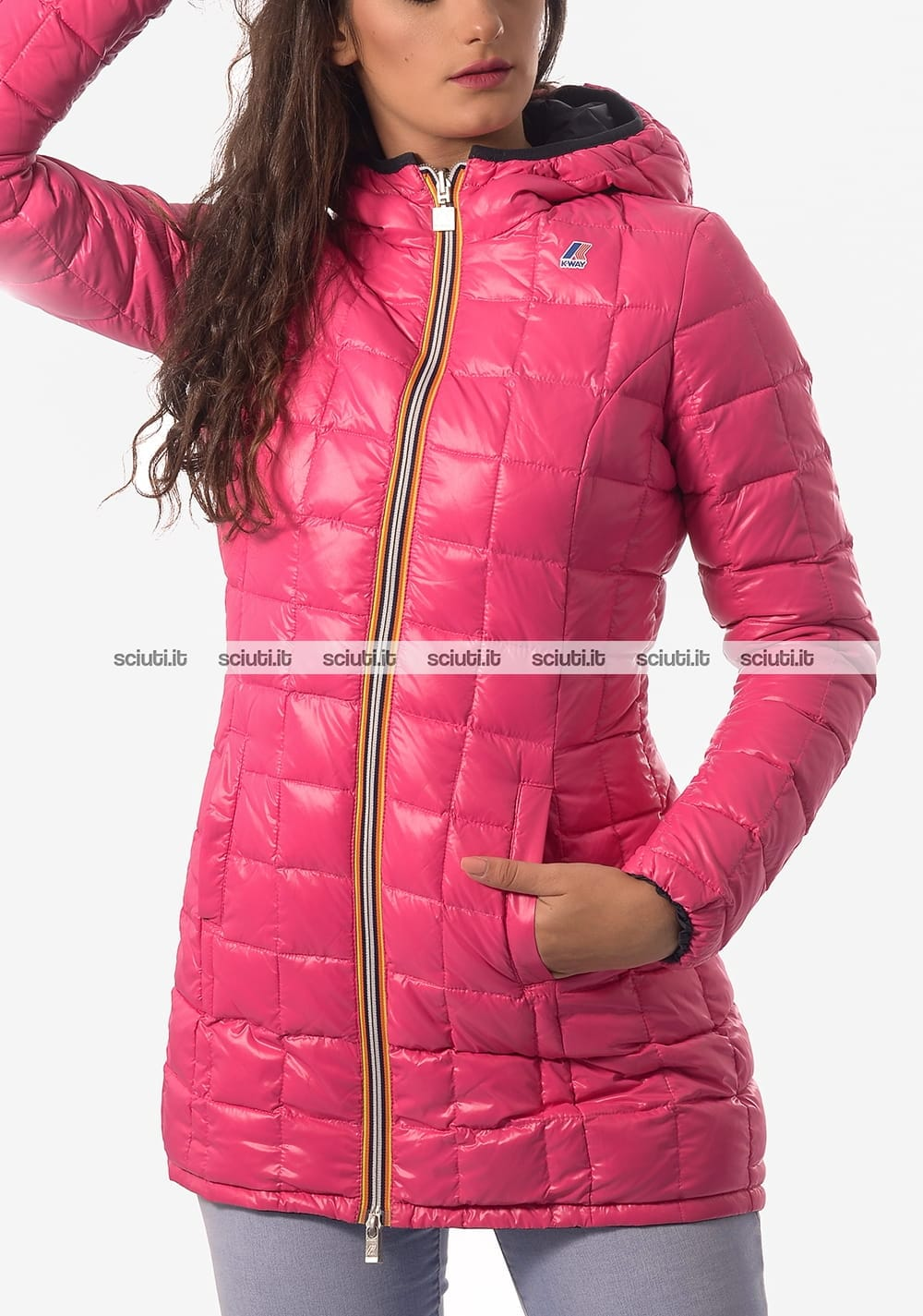 d361db1d4d15ad Giacca Kway donna reversibile Denise Thermo plus double blu fucsia ...