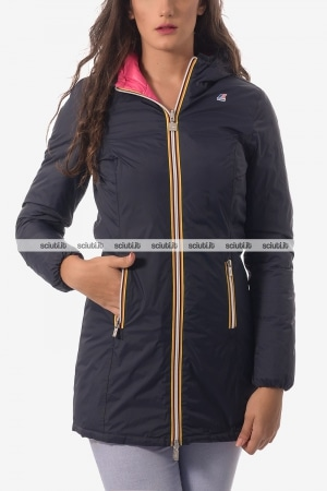 Giacca Kway donna reversibile Denise Thermo plus double blu fucsia