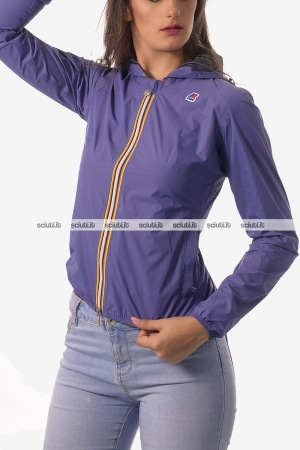 Giacca Kway donna Lil Plus Dot violetto