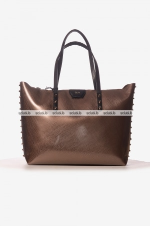 Borsa shopping Gum donna Colorstud bronzo