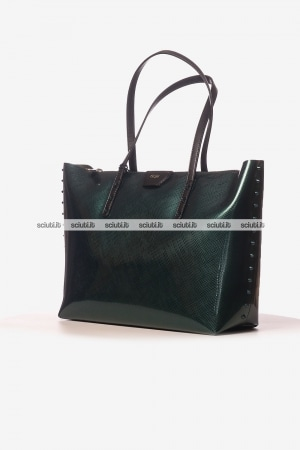 Borsa shopping Gum donna Colorstud verde
