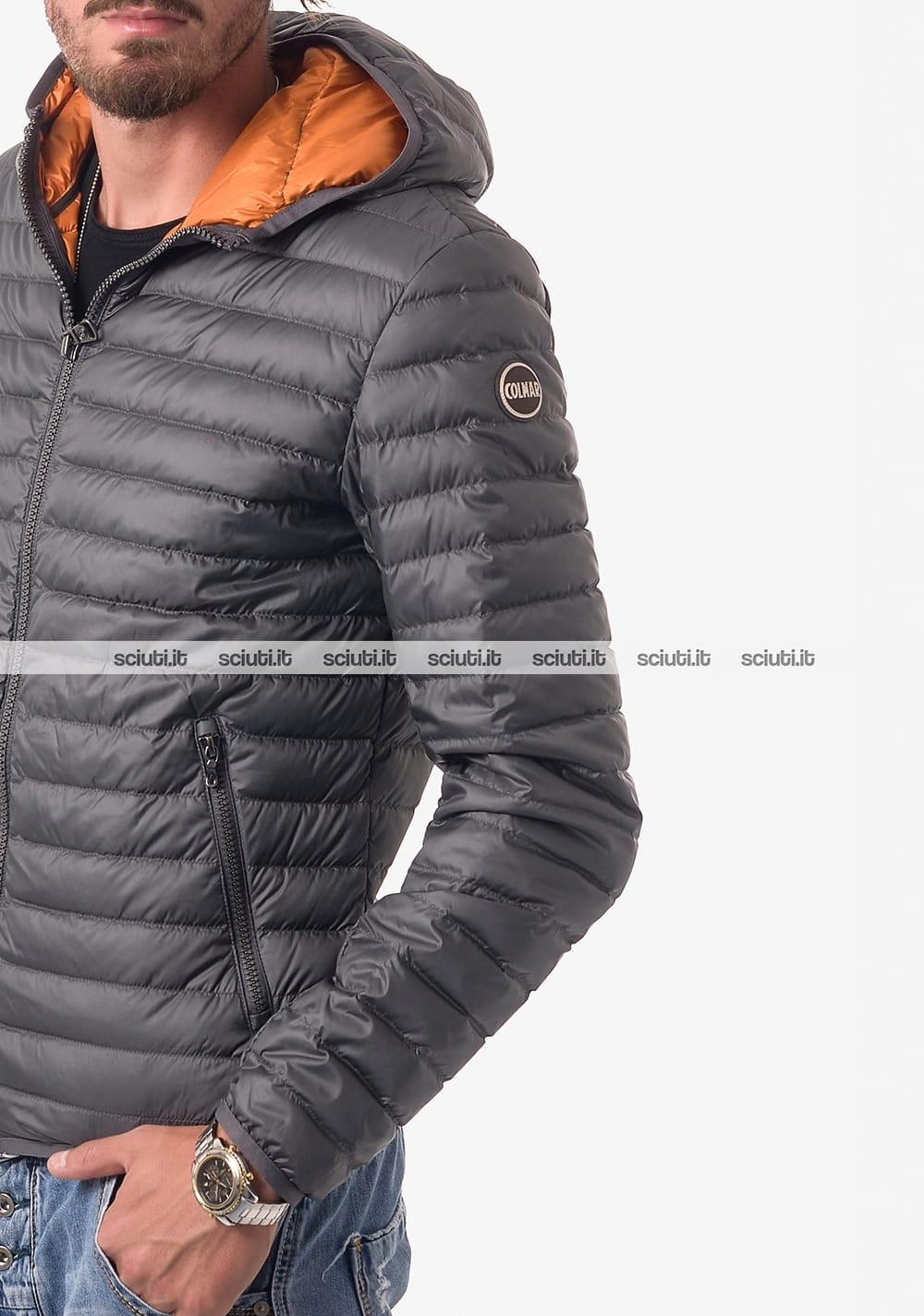 uk availability ad33f 6fe43 Piumino Colmar uomo leggero con cappuccio grigio
