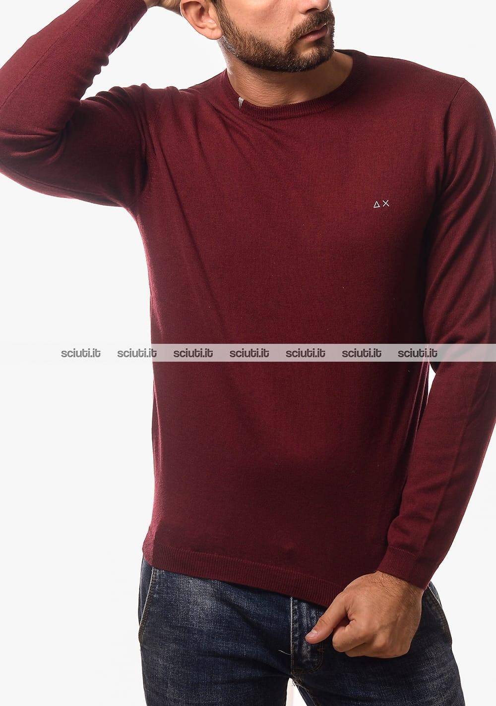 Maglia girocollo Fred Perry uomo marrone | Sciuti.it