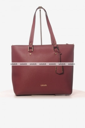 Borsa shopping saffiano Liu Jo donna Isola bordeaux