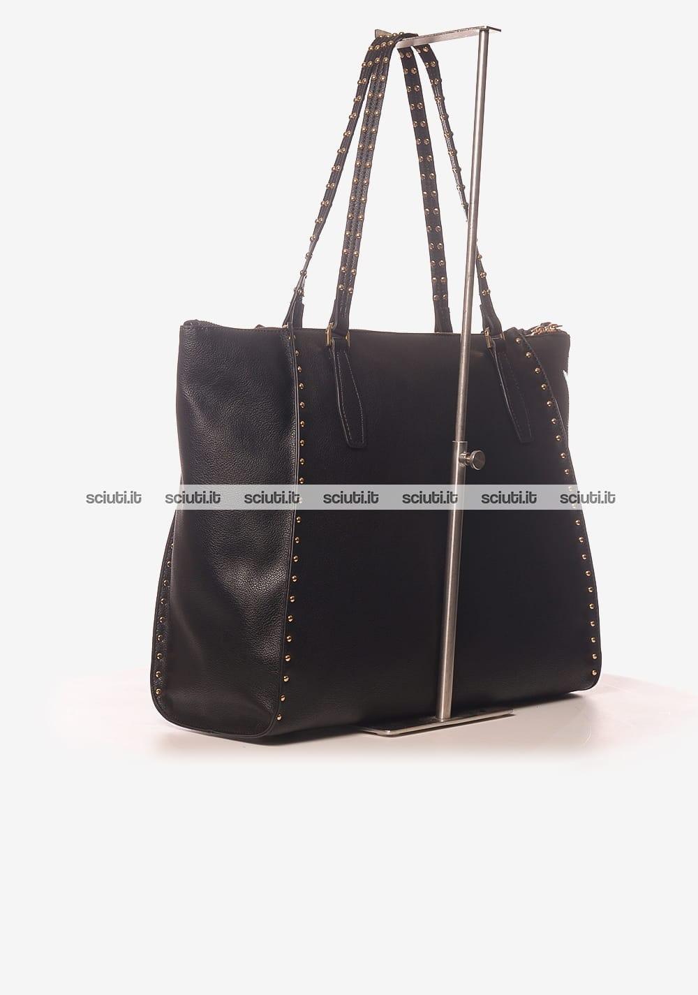 taglia 40 49641 00b8c Borsa shopping Liu Jo donna Gioia nero   Sciuti.it