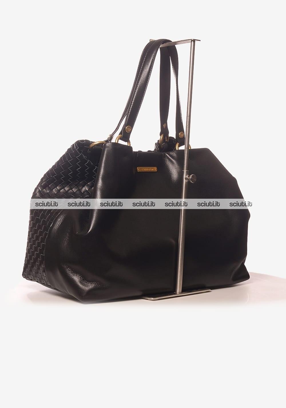 Donna Borsa Shopping Lola Pelle Grande Intrecciata Guess Luxe In P14nHq1Z