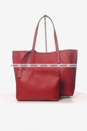 Borsa shopping Guess donna Vikki rosso
