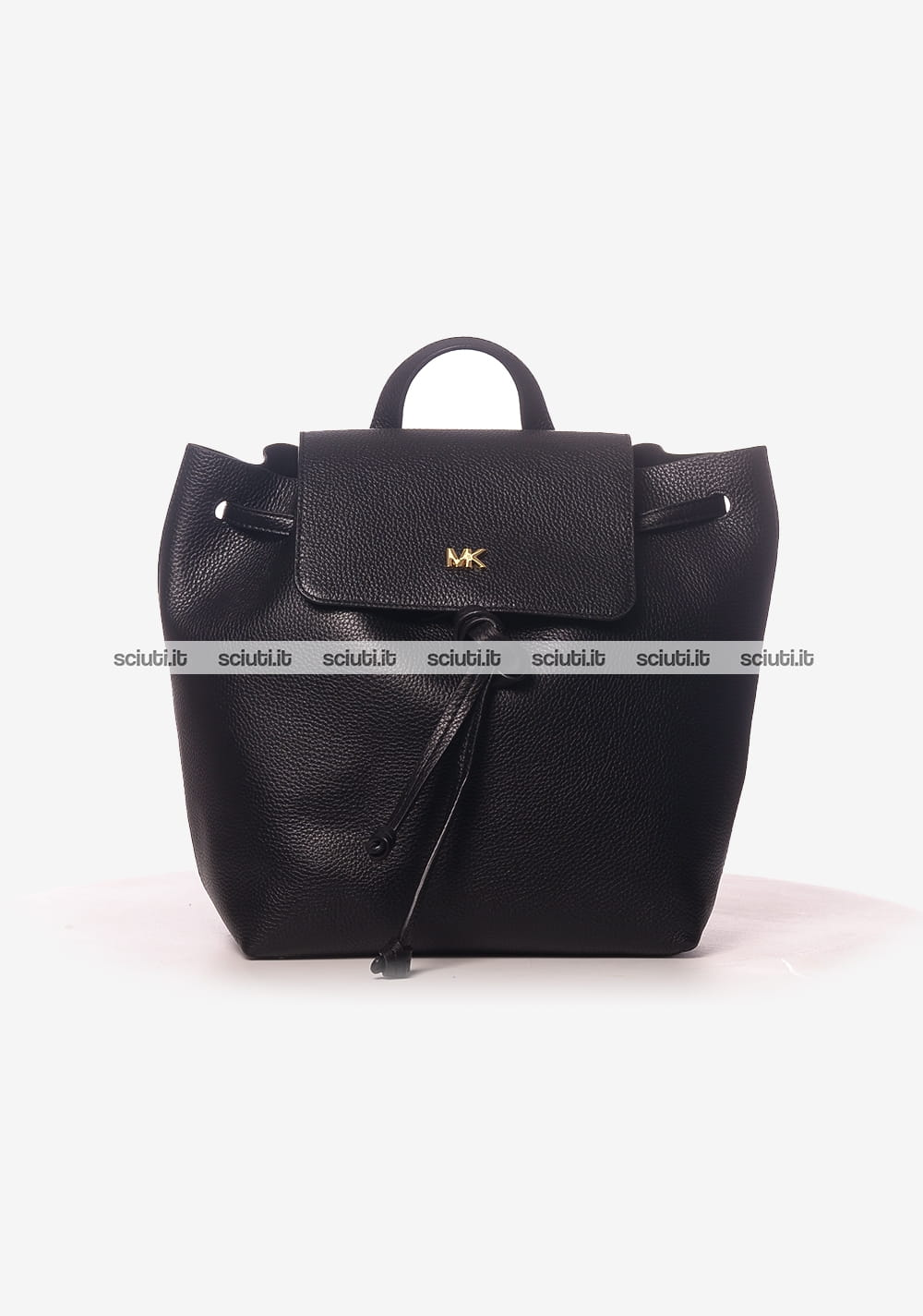 Zaino medio Michael Kors donna Junie in pelle nero