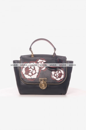 Borsa a mano Guess Luxe donna Glory in pelle maxi rose nero