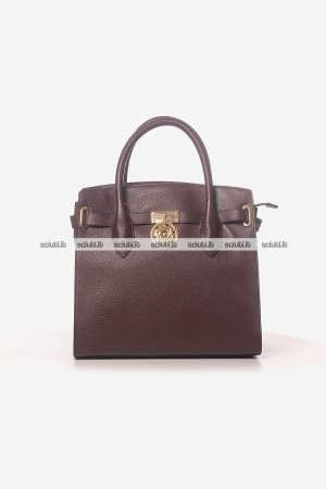 Borsa a mano Guess Luxe donna Peony in pelle marrone