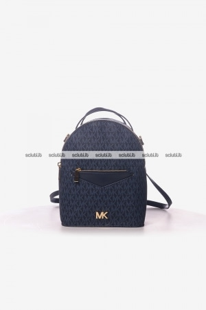 Zaino Michael Kors donna Jessa in pelle logo all over blu