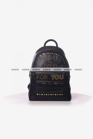 Zaino Trussardi donna Paprica borchiette Be You nero